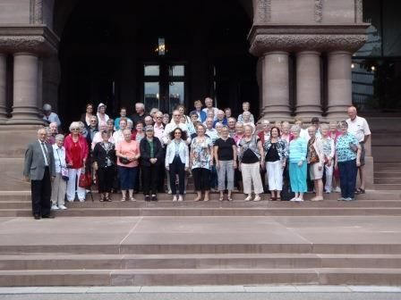 Minto Retirees Visit MPP Randy Pettapiece and the Ontario Legislature in Toronto
